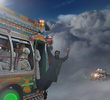 Early Morning Sky Traffic High Above Majestic Peshawar ????? by Kenny Irwin