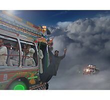 Early Morning Sky Traffic High Above Majestic Peshawar پشاور Photographic Print