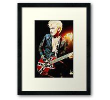 Billy Idol - Digital Painting Framed Print