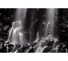 Mungalli Falls in Black & White Photographic Print