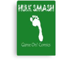 Hulk Smash Footprint Canvas Print