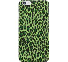 Animal Print, Spotted Leopard - Green Black  iPhone Case/Skin
