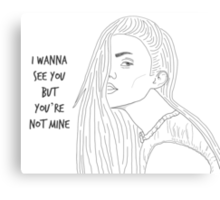 I wanna see you but you're not mine Canvas Print