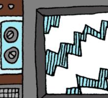 Retro Television Sticker