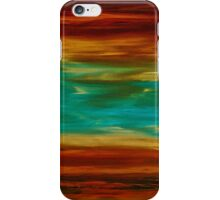 Abstract Landscape Art - Fire Over Copper Lake - By Sharon Cummings iPhone Case/Skin