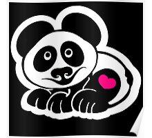 Panda Heart Poster