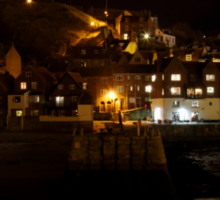 Whitby East Cliff By Night Sticker