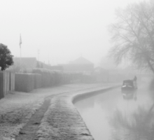 Foggy Canal At Shobnall Sticker