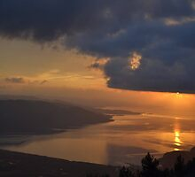 Gokova Sunset and Storm Clouds by taiche