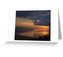 Gokova Sunset and Storm Clouds Greeting Card