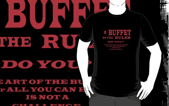 ART OF THE BUFFET TEE SHIRT by qbranchltd