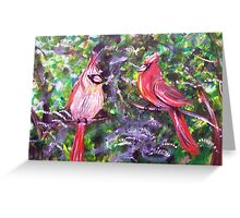 Kentucky Cardinals by Gretchen Smith Greeting Card