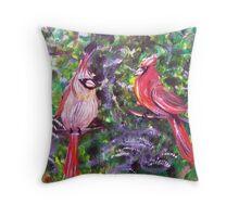 Kentucky Cardinals by Gretchen Smith Throw Pillow
