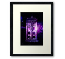 Galaxy TARDIS Framed Print