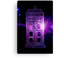 Galaxy TARDIS Canvas Print