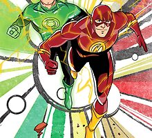Flash & Green Lantern by averagejoeart
