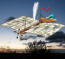 French Steam Powered Monoplane 1874 - all products bar duvet by Dennis Melling