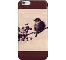 Flowered Finch iPhone Case/Skin