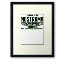 ALIEN 1979 USCSS NOSTROMO Framed Print