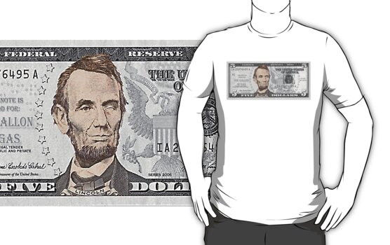 Have You Seen The New Five Dollar Bill? by bchrisdesigns