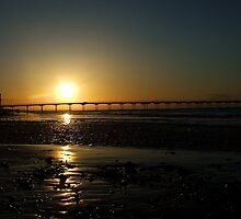 Saltburn Pier Sunset by Mark Cook