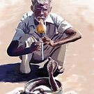 Snake charmer by Barry Thomas
