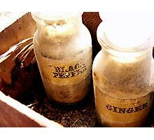 Old Bottles Photographic Print