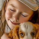 A girl and her dog by Samantha Cole-Surjan