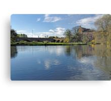 Burton Bridge and The River Trent Metal Print
