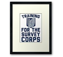 Training For the Survey Corps Framed Print
