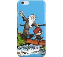 Gandalf and Bilbo Calvin and Hobbes iPhone Case/Skin