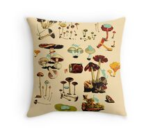 CATS + SPACESHROOMS Throw Pillow