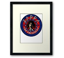 Frank Zappa for President Framed Print