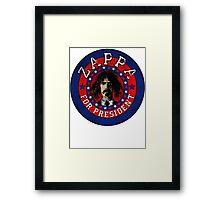 Frank Zappa for President Framed Print