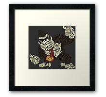 Kongigram Framed Print