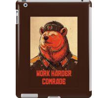 Soviet Bear - Work Harder Comrade iPad Case/Skin