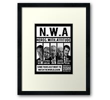 N.W.A. Nerds With Attitude Framed Print