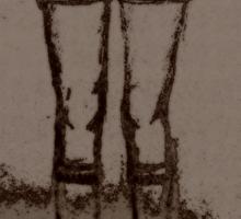 Boney Knees Sticker