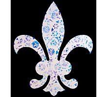Fleur De Lis Watercolor Design Photographic Print