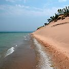 Sleeping Bear Dunes Beach Lake Michigan by mnkreations