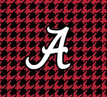 houndstooth, hounds tooth, crimson, white, alabama, roll tide by goodedesign