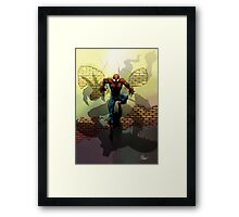 Spiderman vs Goblin Framed Print
