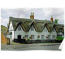 Thatched Cottages In Repton Poster