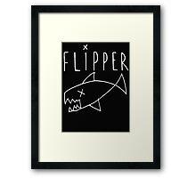 Flipper (Kurt Cobain) Framed Print