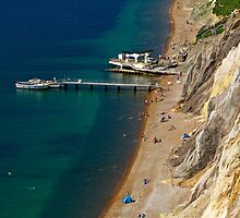 The Beach and Sand Cliffs of Alum Bay by Rod Johnson