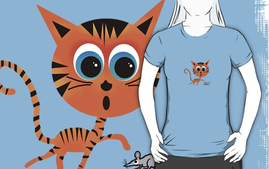 Tiger & Mouse Teeshirt by Ryan Houston