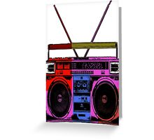 80's Boombox  Greeting Card