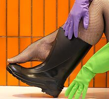 wellies and wubber gloves four by Soxy Fleming