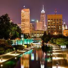 Indianapolis Skyline (Canal Walk Bridge View) by Gregory Ballos | gregoryballosphoto.com