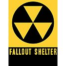FALLOUT SHELTER  by thatstickerguy